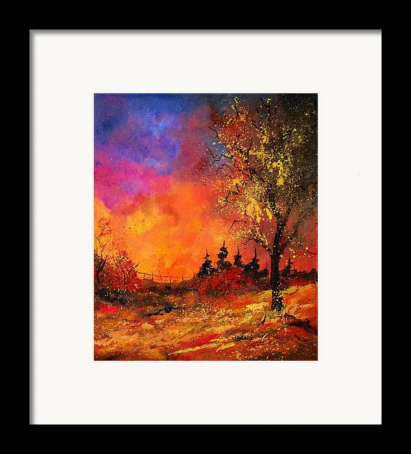 River Framed Print featuring the painting Fall by Pol Ledent