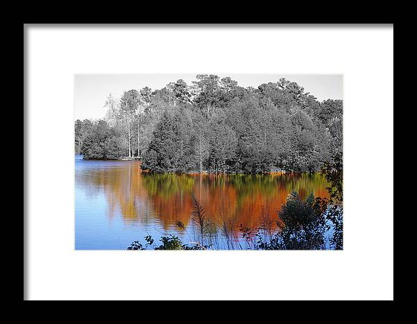 Fall Framed Print featuring the photograph Fall Reflection by Don Prioleau