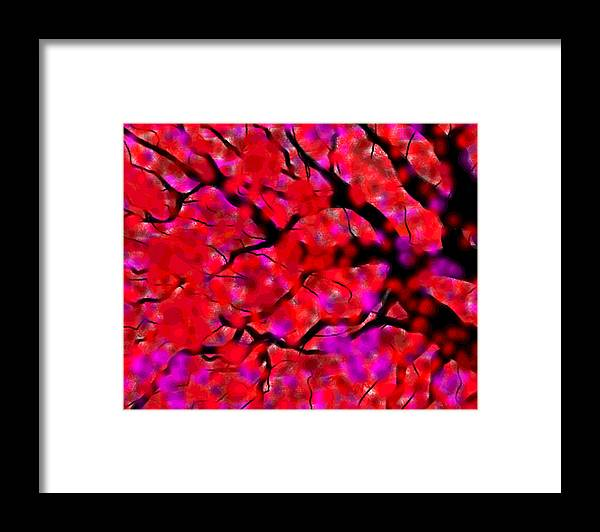 Digital Framed Print featuring the painting Fall by Robyn Lang