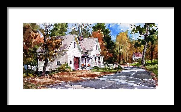 Fall Foliage Framed Print featuring the painting Fall Splendor by Tony Van Hasselt