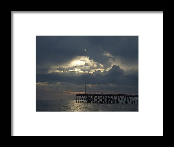Framed Print featuring the photograph Fall Sunset by Liz Vernand