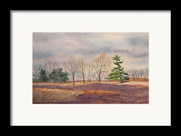 Shadows Framed Print featuring the painting Fall Tapestry by Debbie Homewood