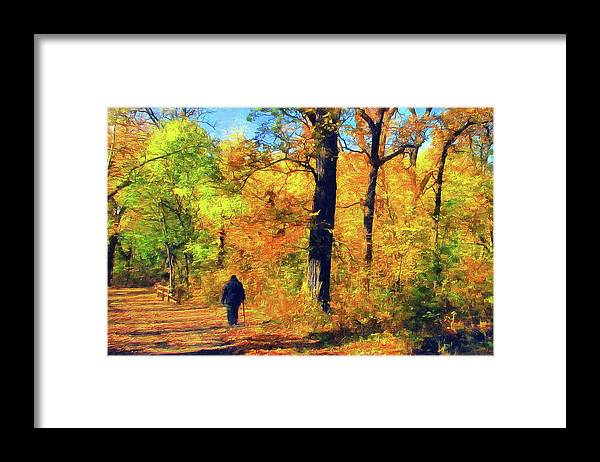 Cedric Hampton Framed Print featuring the photograph Fallen Leaves by Cedric Hampton