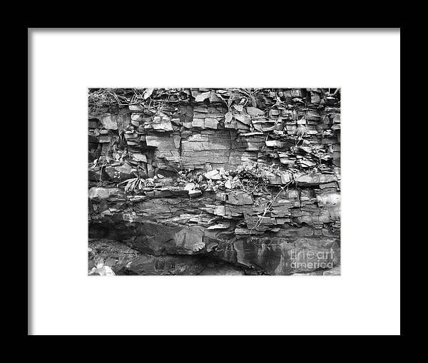 Rocks Framed Print featuring the photograph Fallen Rocks by Reb Frost
