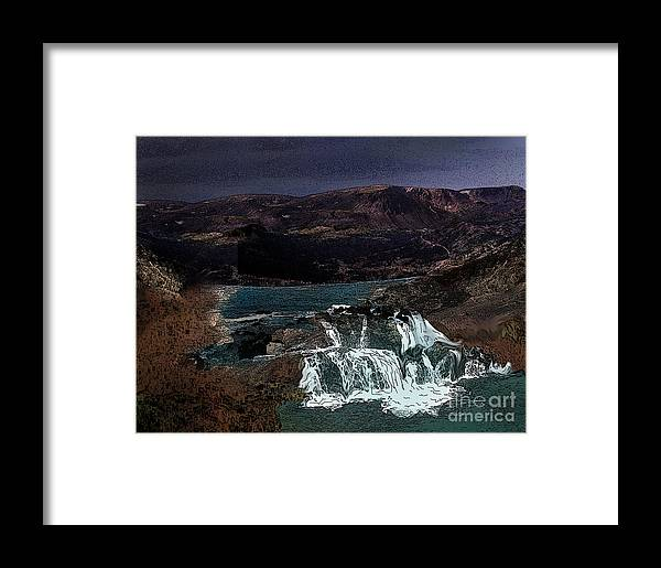 Water Framed Print featuring the photograph Falling For You by Vivian Martin