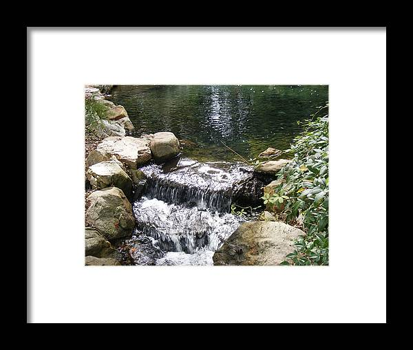 Water Framed Print featuring the photograph Falling by James and Vickie Rankin