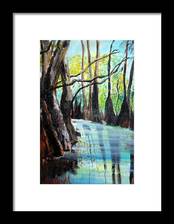 South Georgia Framed Print featuring the painting Falling Leaves by Diane Fiore