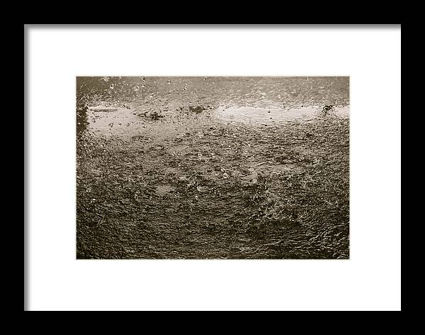 Rain Drops Framed Print featuring the photograph Falling by Moby Kane