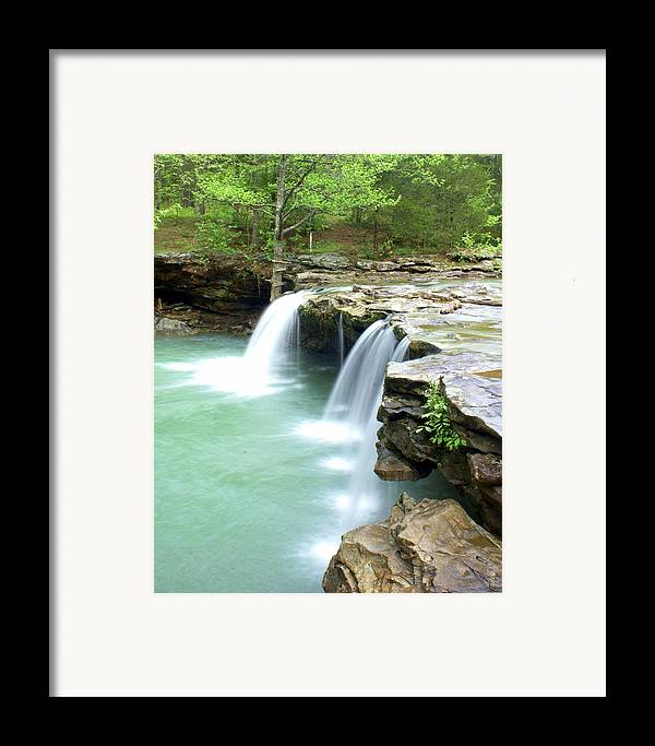 Falling Water Falls Framed Print featuring the photograph Falling Water Falls 5 by Marty Koch