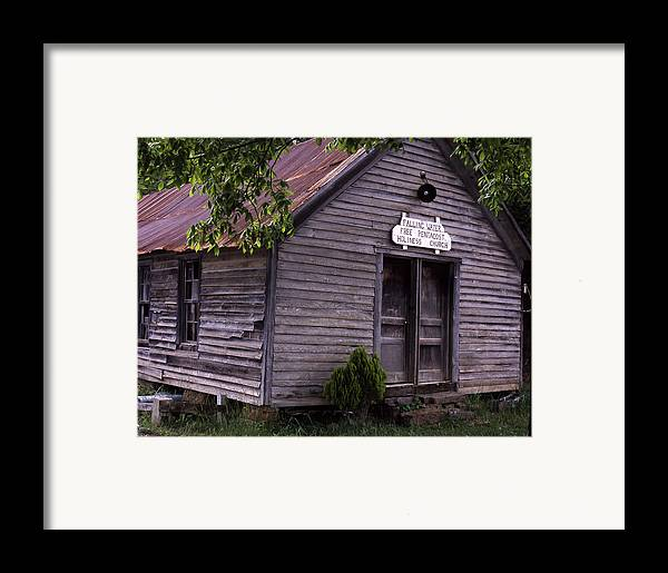 Framed Print featuring the photograph Fallingwater Church by Curtis J Neeley Jr