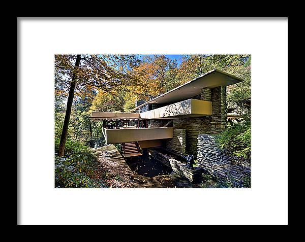 Fallingwater Framed Print featuring the photograph Fallingwater Pennsylvania - Frank Lloyd Wright by Brendan Reals