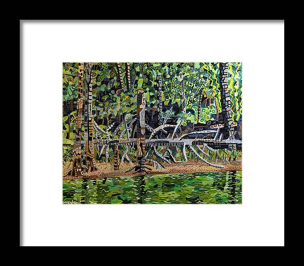 Acrylic Framed Print featuring the painting Falls Lake In July by Micah Mullen