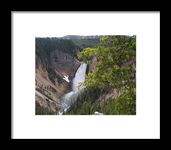 Water Framed Print featuring the photograph Falls by Mel Crist