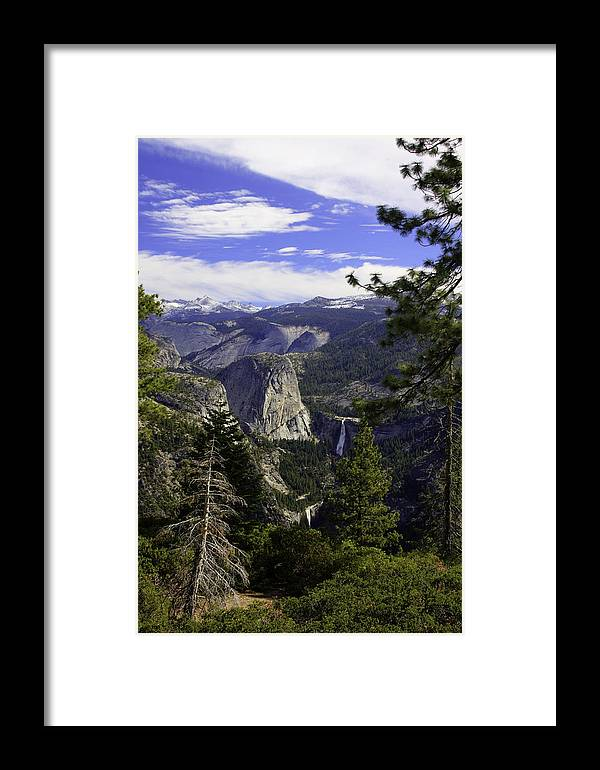 Framed Print featuring the photograph falls of Yosemite by Jim Riel
