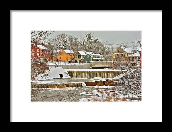 Exeter New Hampshire Framed Print featuring the photograph Falls on Exeter River by Diana Nault