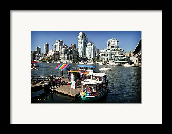 False Creek Framed Print featuring the photograph False Creek In Vancouver by Tom Buchanan