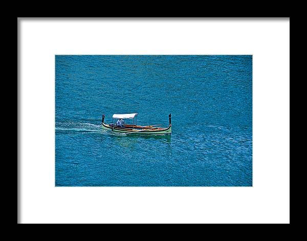 Boat Framed Print featuring the photograph Faluco Malta Harbour by Anselmo Albert Torres