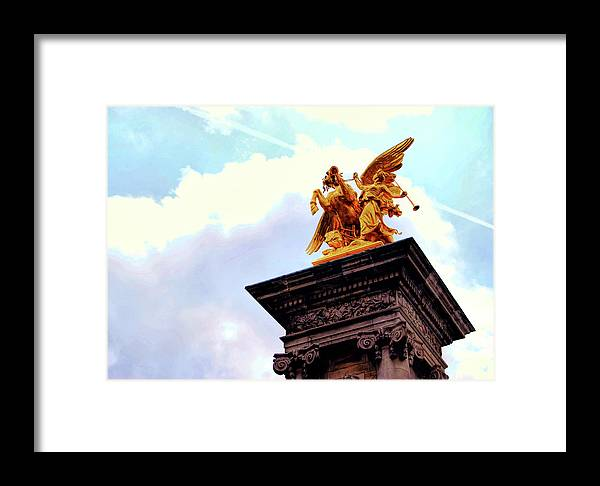 Paris Framed Print featuring the photograph Fames Restraining Pegasus by JAMART Photography