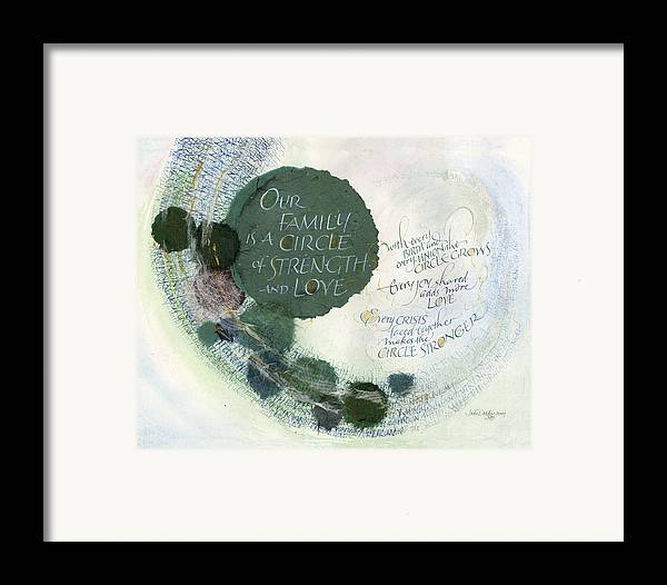 Adoption Framed Print featuring the painting Family Circle by Judy Dodds