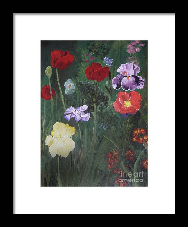 Flowers Framed Print featuring the painting Family Flowers by Michael King