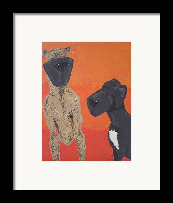 Animals Framed Print featuring the painting Family Giants by Raymond Nash
