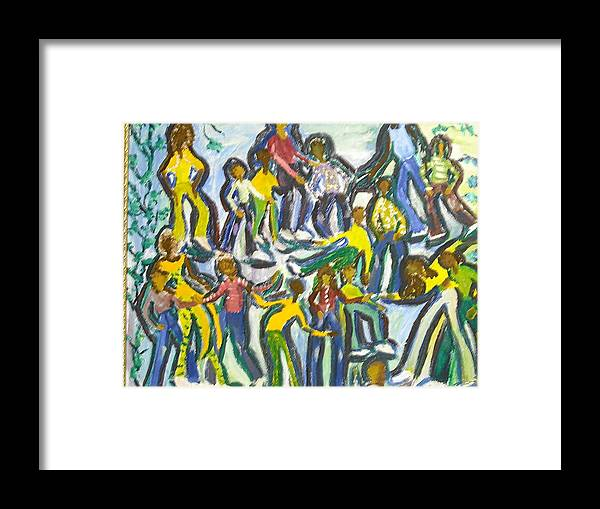 Family Framed Print featuring the painting Family Reunion by BJ Abrams