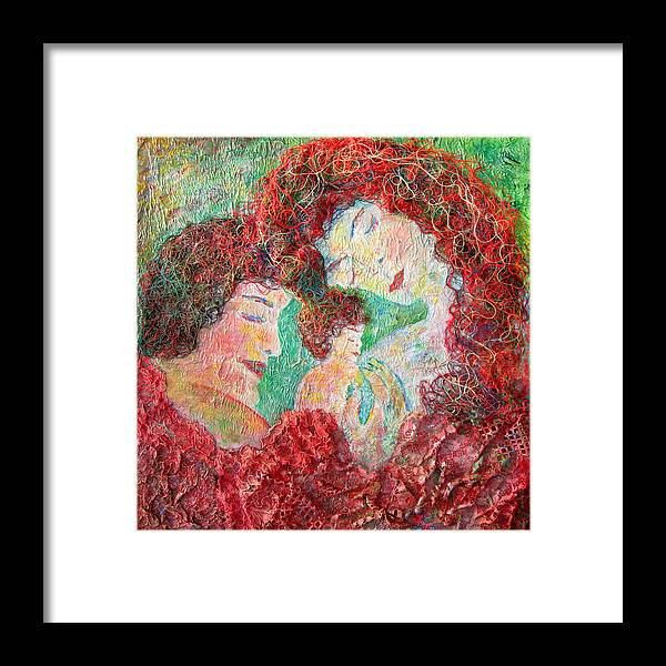 Mother Framed Print featuring the painting Family Safety by Naomi Gerrard