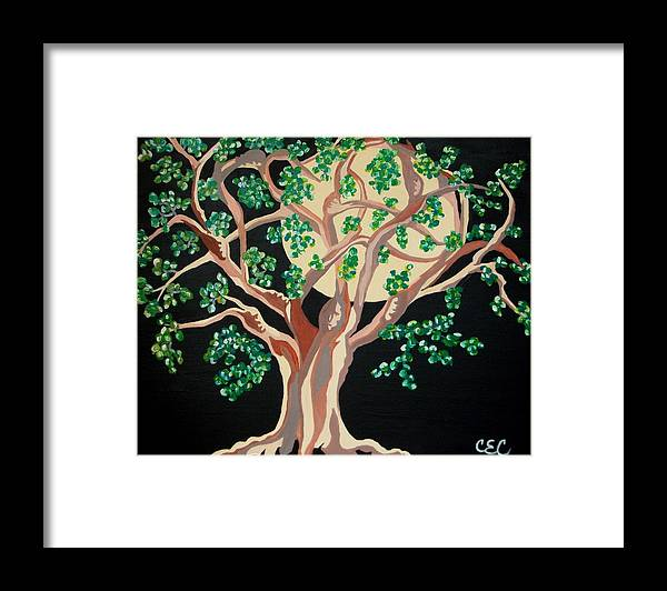 Tree Framed Print featuring the painting Family Tree by Carolyn Cable