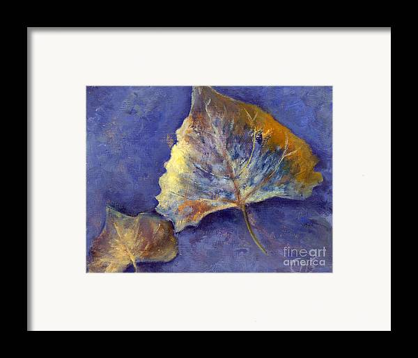 Leaves Framed Print featuring the painting Fanciful Leaves by Chris Neil Smith