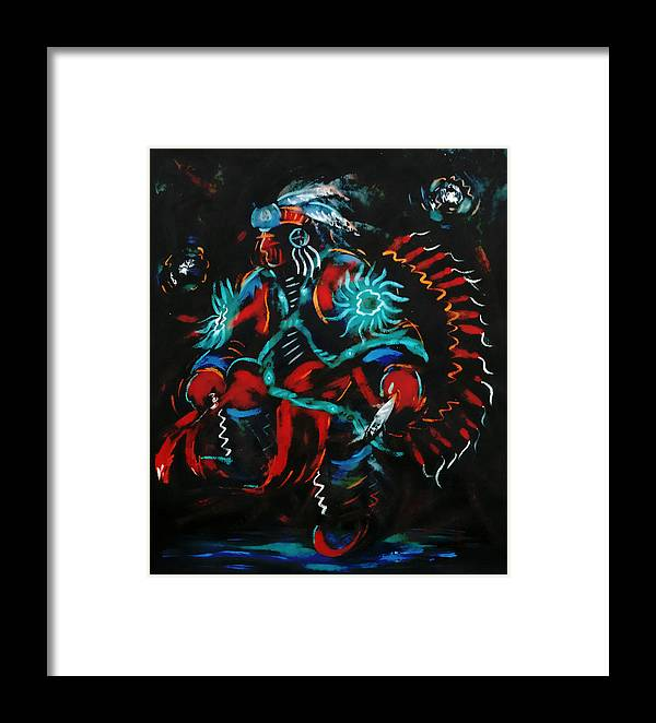 Dancing Framed Print featuring the painting Fancy Dancer by Arnold Isbister