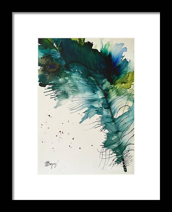 Feather Framed Print featuring the painting Fancy Feather by Marcia Breznay