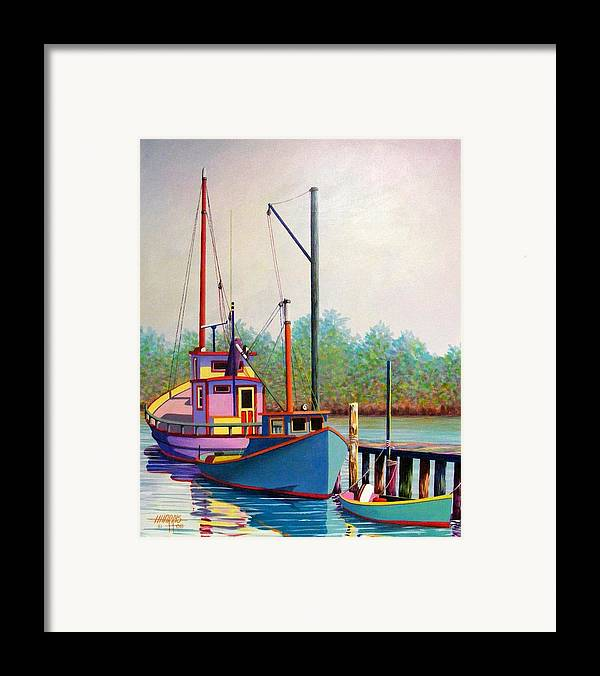 Landscape Framed Print featuring the painting Fancy Fleet by Hugh Harris