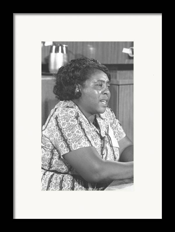History Framed Print featuring the photograph Fannie Lou Hamer 1917-1977 by Everett