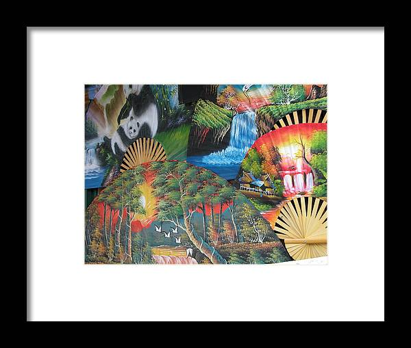 Still Life Framed Print featuring the photograph Fans by William Thomas