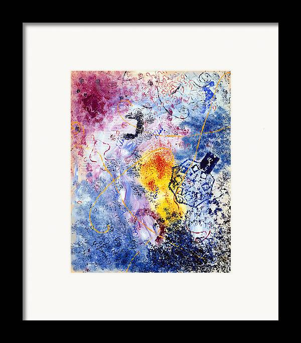 Abstract Framed Print featuring the painting Fantaisies by Dominique Boutaud