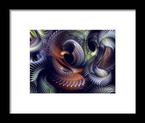 Abstract Framed Print featuring the digital art Fantastique by Casey Kotas