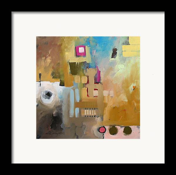 Original Framed Print featuring the painting Fantasy 79b by Linda Monfort