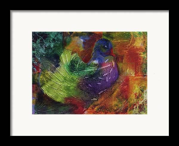 Animal Framed Print featuring the painting Fantasy Bird by Silvia Philippsohn