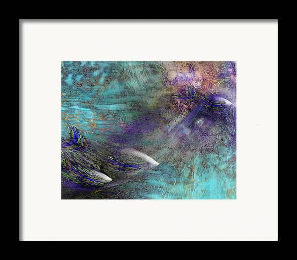 Fish Water Ocean Framed Print featuring the digital art Fantasy Fish by Gae Helton