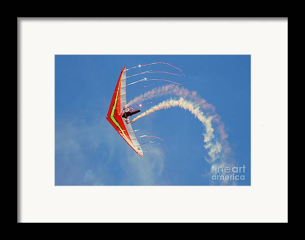 Sky Framed Print featuring the photograph Fantasy Flight by Larry Keahey