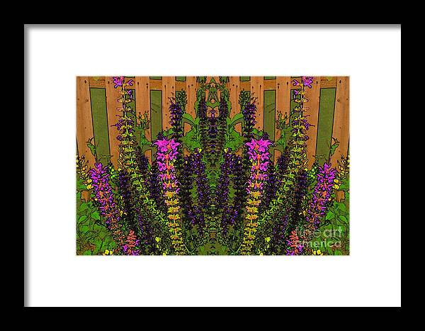 Fantasy Framed Print featuring the photograph Fantasy Garden Two by Beverly Shelby