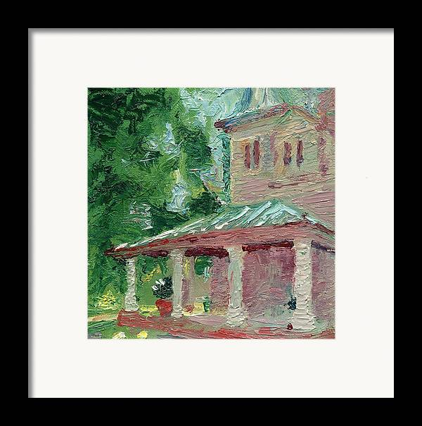Oil Framed Print featuring the painting Fantasy House by Horacio Prada