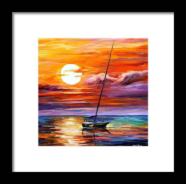 Afremov Framed Print featuring the painting Far And Away by Leonid Afremov