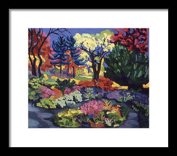 Landscape Framed Print featuring the painting Far Country Entrance by Doris Lane Grey