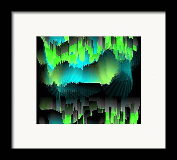 Did Art Abstract.dreams.wishes.future.past.the Comparison.colors.  The Silhouettes Of The Houses.  Framed Print featuring the digital art Far Dreams by Dr Loifer Vladimir