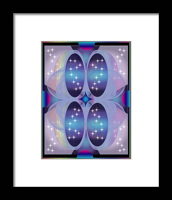Abstract Framed Print featuring the digital art Far Galaxy by George Pasini