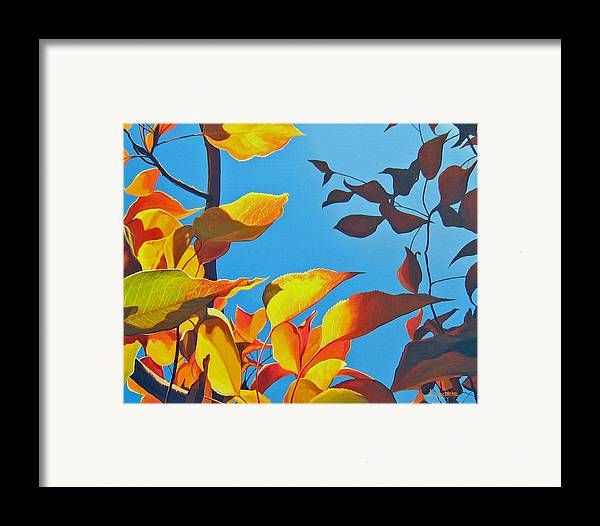 Fall Framed Print featuring the painting Farewell To Summer by Hunter Jay
