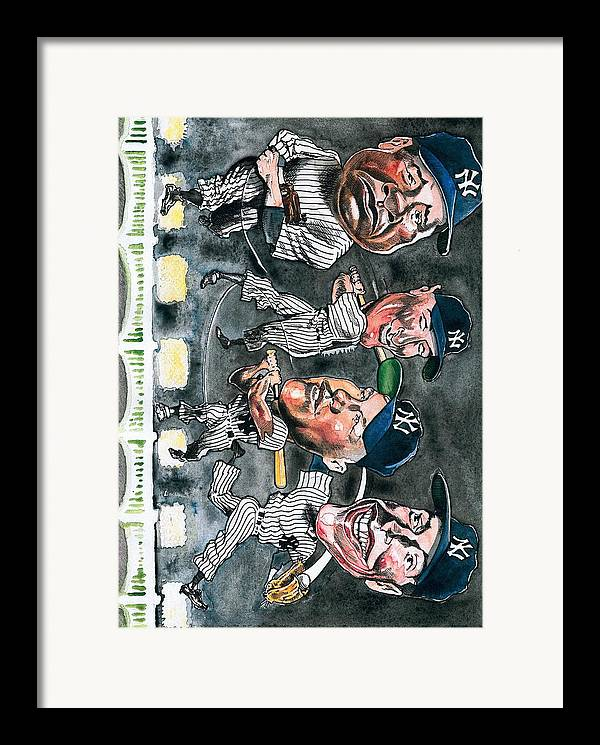 Babe Ruth Framed Print featuring the painting Farewell Yankee Stadium by Robert Myers