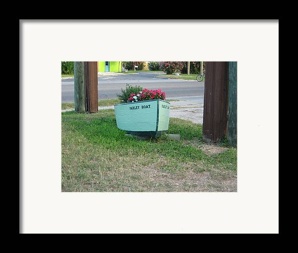 Boat Framed Print featuring the photograph Farley Boat by Wendell Baggett