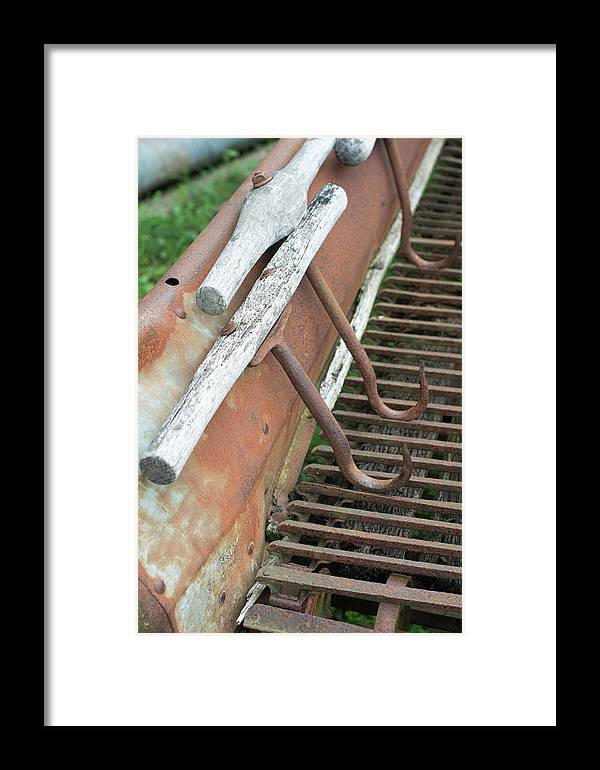 Cobleskill Ny Framed Print featuring the photograph Farm Hooks by Joan D Squared Photography